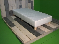 1 persoons boxspring ecru